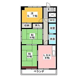 タウンライフ堀川[3階]の間取り