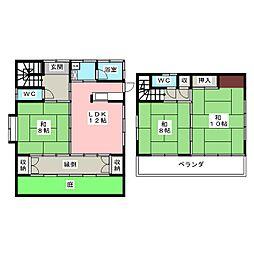 [一戸建] 愛知県豊明市栄町南舘 の賃貸【/】の間取り