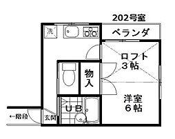 東京都江戸川区南篠崎町4丁目の賃貸アパートの間取り