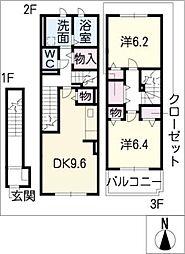 ブルック・アベニューI[2階]の間取り