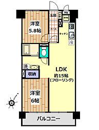 検見川ハイム2号棟[10階]の間取り