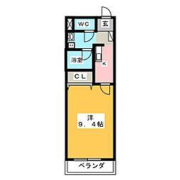 ラ・フォンテ1[1階]の間取り