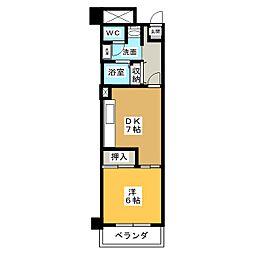アーバンドエル新栄[7階]の間取り