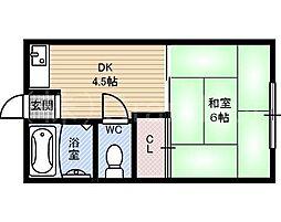 サンハイム[4階]の間取り