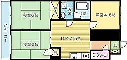 フレンズライク霧ヶ丘[305号室]の間取り