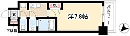 ADVANCE NAGOYA MOXIE 13階1Kの間取り
