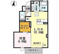 サンドハウス A棟[102号室]の間取り