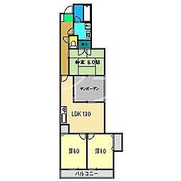 パレドバレーヌ[1階]の間取り