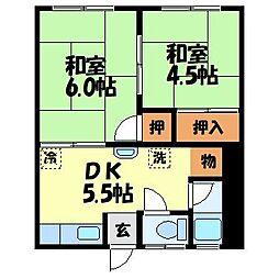 有田アパート[2号室]の間取り