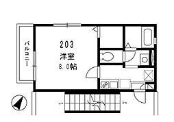 東京都品川区西品川1丁目の賃貸アパートの間取り