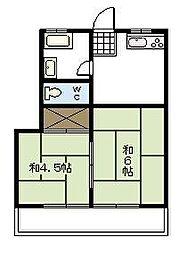 福富アパート[202号室]の間取り