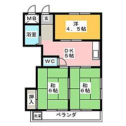 リアナ稲沢アパートメント[1階]の間取り