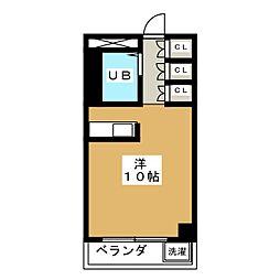 八晃ビル[4階]の間取り