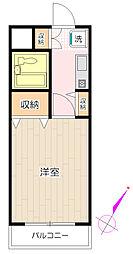 メゾン鶴ヶ島[109号室号室]の間取り