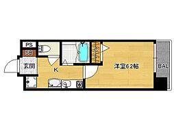 SHICATA SIX BLDG[504号室]の間取り