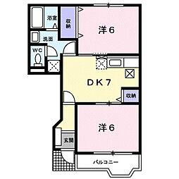 アルカディア1[1階]の間取り