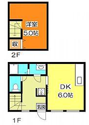 ヴィラ・グランディオ東本町[1階]の間取り