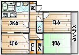 高須ハイツ[1階]の間取り
