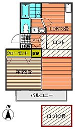 メゾン住吉NOTAME[201号室]の間取り