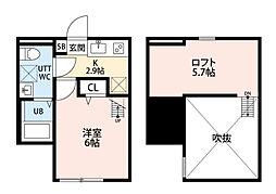 クレスト平塚[103号室]の間取り