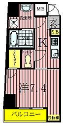 千葉県柏市中央1丁目の賃貸アパートの間取り
