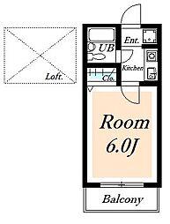 ローズアパートF13A棟[2階]の間取り