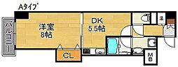 グラドネスT・H[5階]の間取り