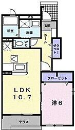 兵庫県豊岡市日高町国分寺の賃貸アパートの間取り