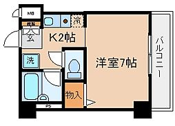 兵庫県神戸市兵庫区下沢通6丁目の賃貸マンションの間取り