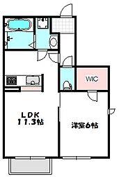 大阪府守口市小春町の賃貸アパートの間取り