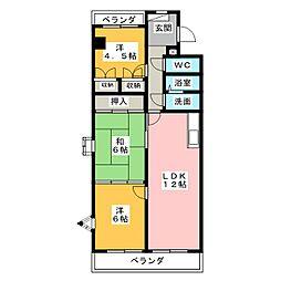 エスポワールマンション[2階]の間取り