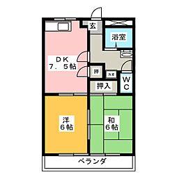 ハイツA−2[2階]の間取り