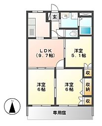 センチュリーマンション[1階]の間取り
