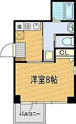アクアプレイス梅田[8階]の間取り