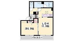 JR姫新線 余部駅 徒歩11分の賃貸アパート 1階1LDKの間取り