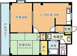 エクシード菊入I[3階]の間取り