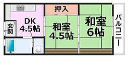 橋本アパートメント[302号室号室]の間取り
