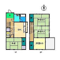 [一戸建] 高知県高知市鴨部 の賃貸【/】の間取り