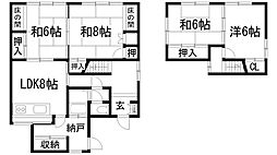 [一戸建] 兵庫県川西市久代1丁目 の賃貸【/】の間取り