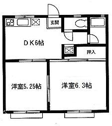 ASUKAハイツ[102号室]の間取り