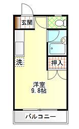カクヨー中町マンション[303号室]の間取り