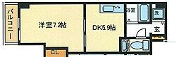 ラ・セーヌ心斎橋東[703号室]の間取り