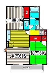 エステートUIII[2階]の間取り