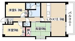 ピアネーズ神ノ倉[2階]の間取り