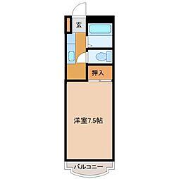 B−INハウス鳥栖[3階]の間取り