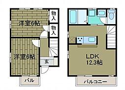 [テラスハウス] 神奈川県相模原市南区西大沼2丁目 の賃貸【神奈川県 / 相模原市南区】の間取り