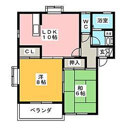 リラックスB[2階]の間取り