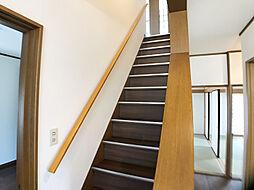 「階段」手すり付きです。