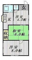 [一戸建] 千葉県松戸市横須賀1丁目 の賃貸【/】の間取り