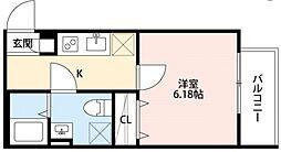 クラリスクオーレ[3階]の間取り
